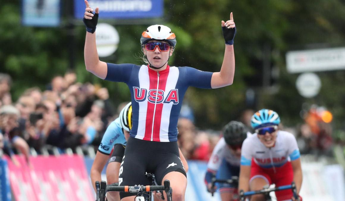Megan Jastrab, campeona del Mundo junior en ruta