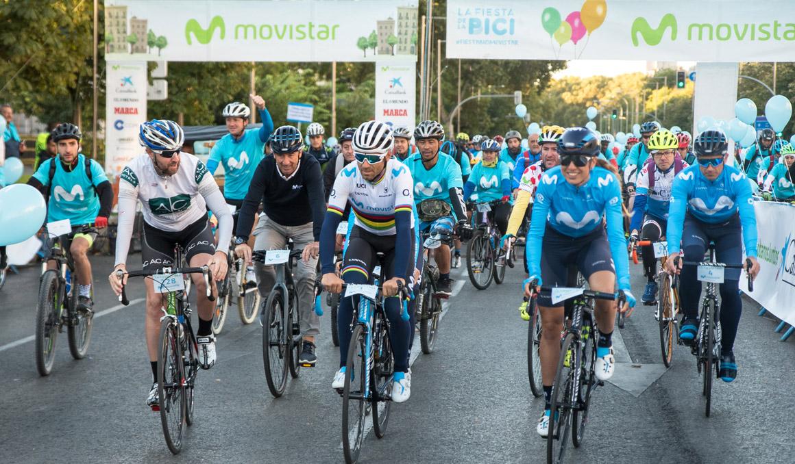Pedro Delgado y Pablo Lastras darán la salida a la Fiesta de la Bici Movistar