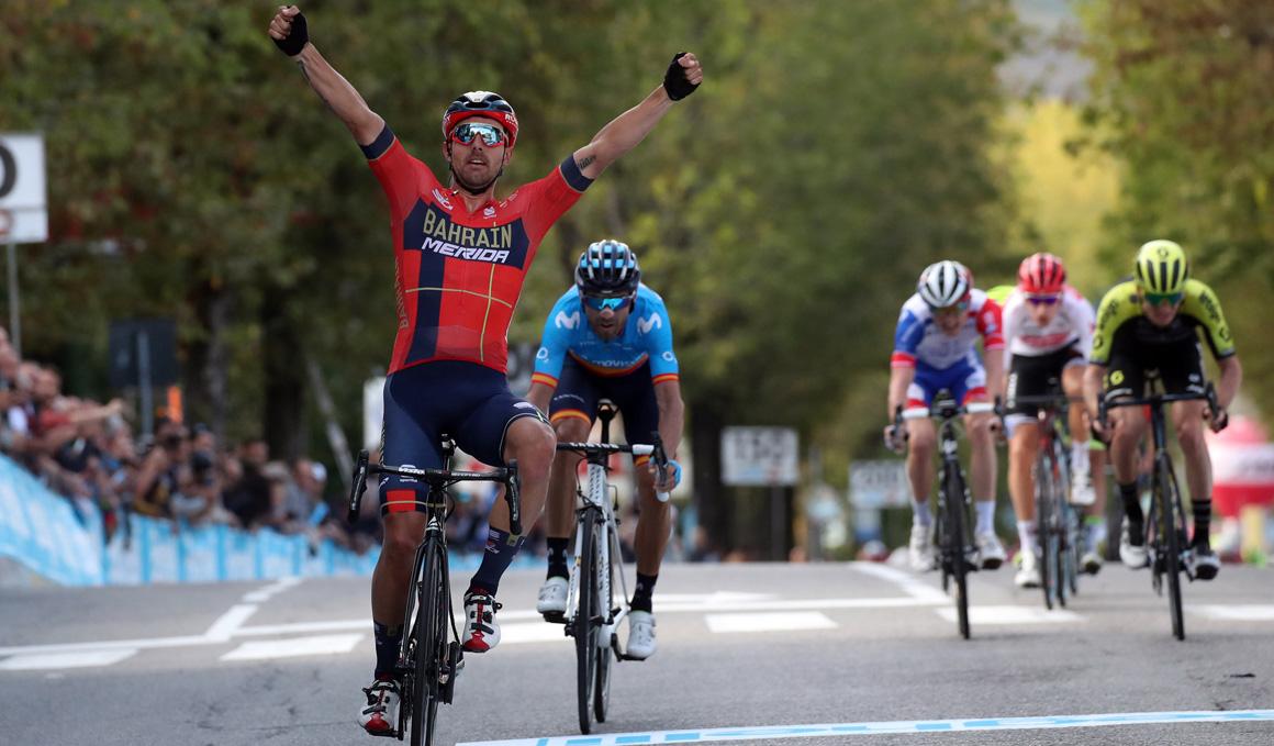 Sonny Colbrelli bate a Valverde en el G.P. Beghelli