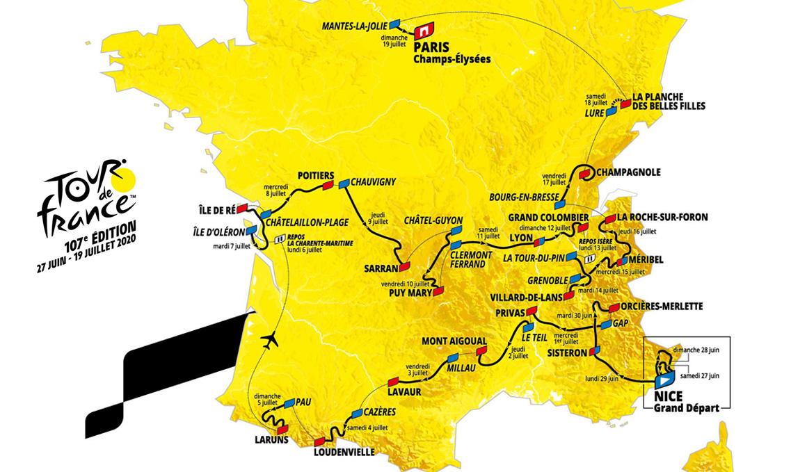 Ranskan Ympäriajo 2021 Reitti