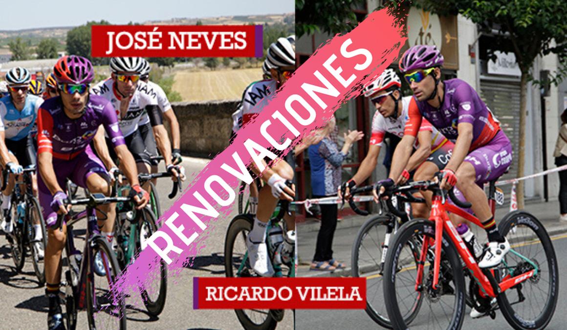 Los portugueses Ricardo Vilela y José Neves renuevan con Burgos-BH