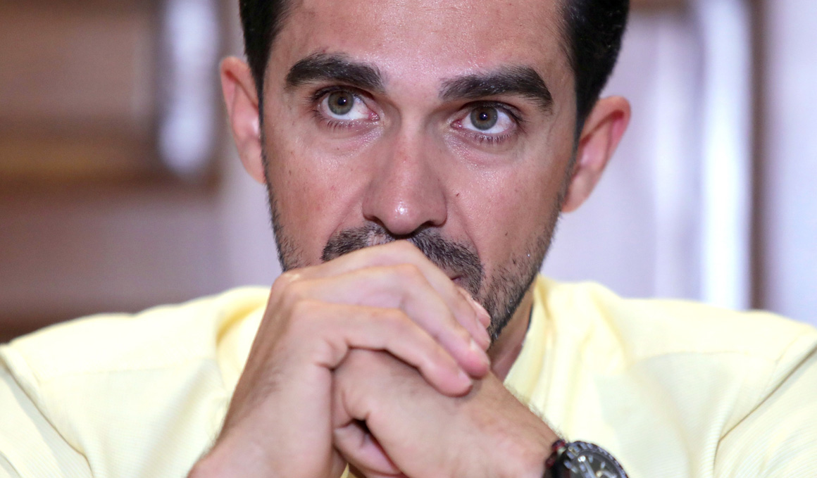 Alberto Contador, ingresado con fiebre en un hospital de Colombia