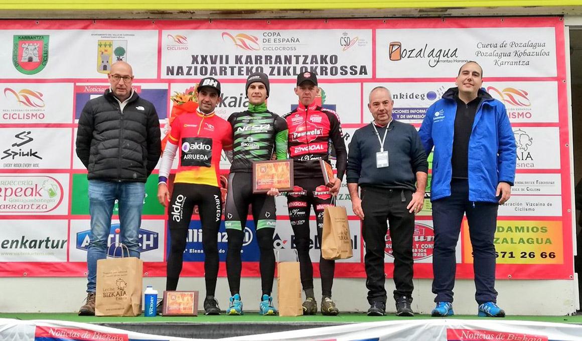Suárez y Nuño triunfan en el Ciclocross Internacional de Karrantza
