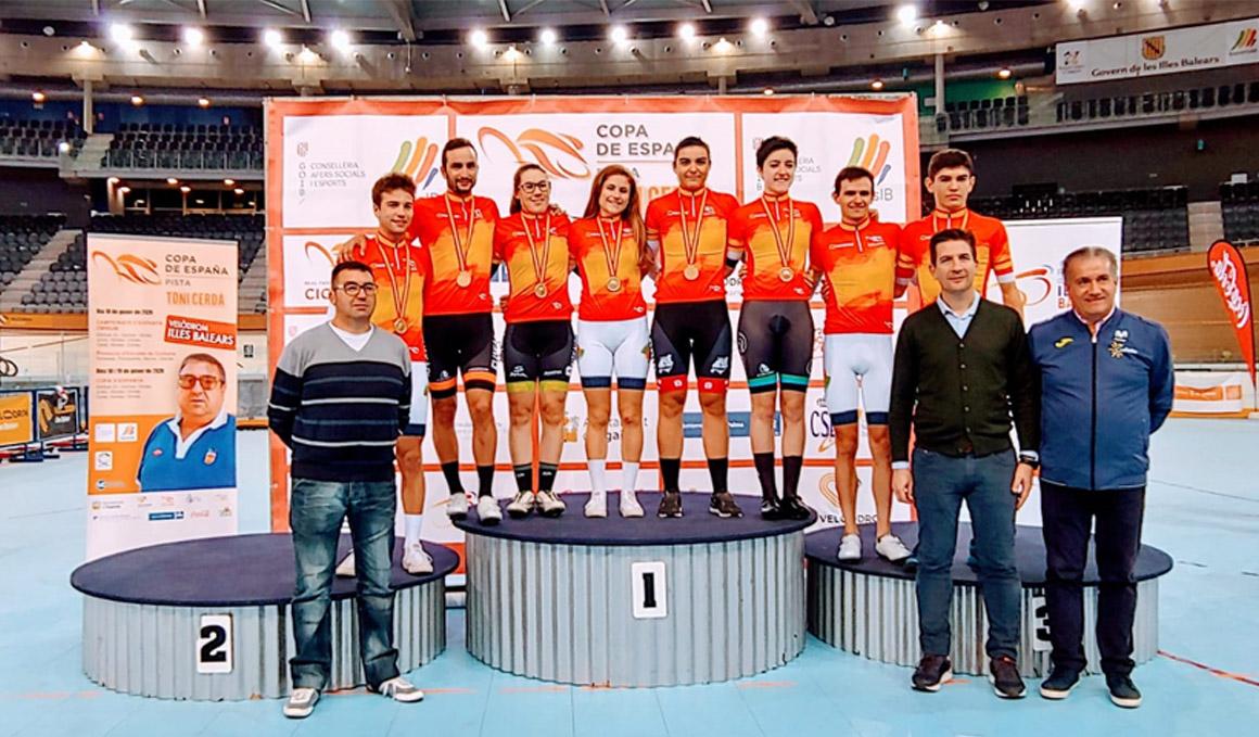 Juanjo Lobato y Ana Usabiaga, campeones de España de ómnium 2020