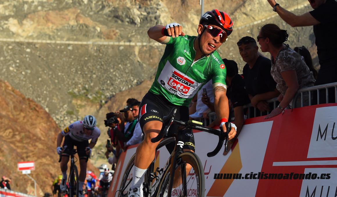 UAE Tour: Caleb Ewan gana en la presa de Hatta y pasa a liderar la general
