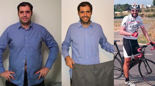 Antes y después: pérdida de peso sobre dos ruedas