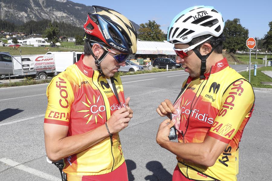 La selección española se entrena en el circuito de Innsbruck